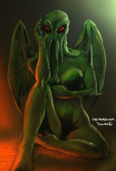 Female Cthulhu colors by Dawkz by Dany-Morales
