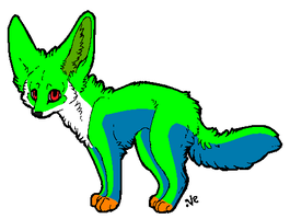 Red Eyed Tree Fox Adoptable!(NOT OPEN) by kibagirl135