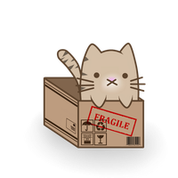 A cat in a box by Animetron