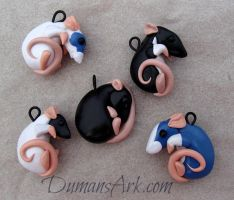 Rattie Pendants!! by DumansArk