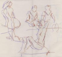 Life drawing 15-9-2010 s.2 by tigr3ss