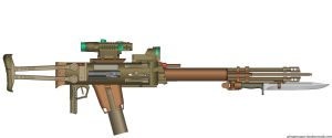 Ripper Double Barreled Assault Rifle by wheeled-tank