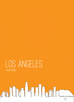 PosterVine Los Angeles Skyline Poster by PosterVine