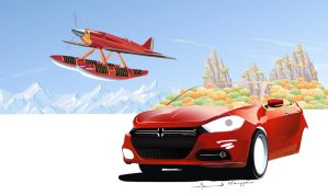 Dodge Dart Vs Macchi MC 72 by ahmednayyer
