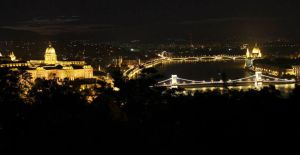 Night Budapest by Wewericka