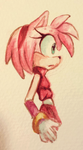 water color boom! Amy Rose by Alliizoo