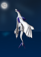 Lugia with different wings by Ho-ohLover