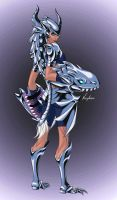 Blue-Eyes White Shyvana by LeFreaks