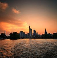 Postcard from Frankfurt by Csipesz