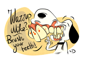 Snoopy Teeth Brushing by Themrock