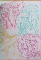 Hanging Out With Her Friends 01 by Sky-The-Echidna