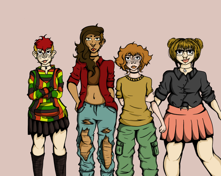 My Old Comic Babes by TenebrousGlare