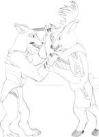 Hunt or be hunted (sketched) by Thunderstar01