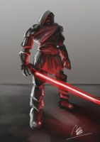 Sith Lord Concept Sketch by mhofever