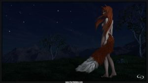 Holo, The Wise Wolf by Crimsonight