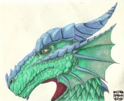 Dragon in Profile by SilverDrgnbane