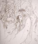 Galadriel and Arwen by evankart