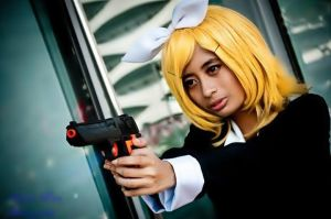 Vocaloids- Secret Police Rin by BuonoTomatoOH