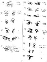 Anime eyes 184-198 by mayshing