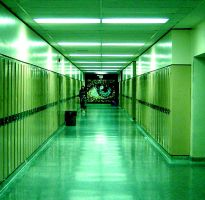 School Hallway. by Danied
