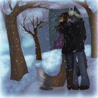 Winter Kiss by LadySilvie