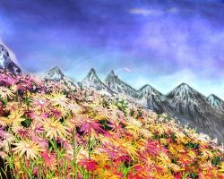 Rhapsody Mountains by rabbitica