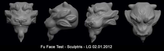 Fu Face Sculpt Doodle by lgliang