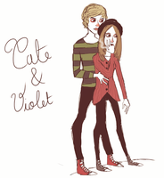 Tate and Violet by firefliesbleeding