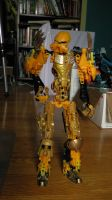 testing new gold armor pieces from bionicle 2015 by sniperray213