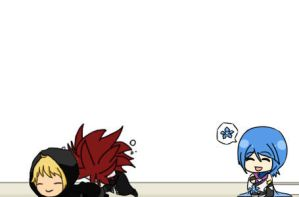 Aqua is an AkuRoku's fangirl by Achico-Xion