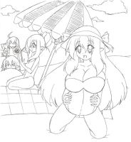 Spending time at the beach by OverlordZeon
