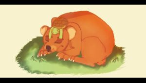 Bear and turtle Request by Bacon-Paws