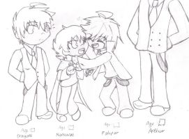 Family Universe Height Comparisons Concept by SweetPops05