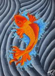 Koi (Copic on Canvas) by Flyingdragon77