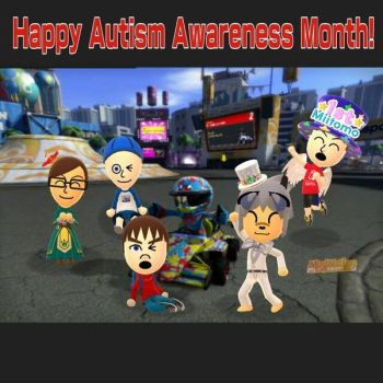 Happy Autism Awareness Month! by GoldRaibowMario2
