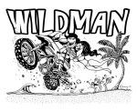 Wildman TShirt Design 08 by Dinuguan
