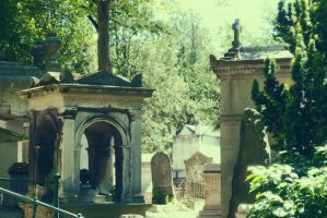 Pere Lachaise cemetery in Paris by PhotoFrama