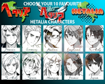 10 favourite Hetalia Characters by simply-lau