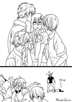 [Free!] Kiss Time- Line Art by Hatake-Lucia