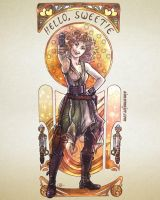 River Song Art Nouveau by aimeekitty