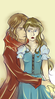 Rumbelle touch by BlueBirdOfHapiness