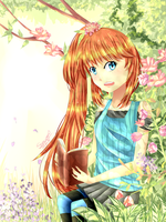 CE: Reading in the Garden by Shou-ryu