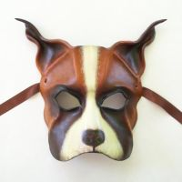 Dog Leather Mask Boxer Mastiff Bulldog bully dog by teonova