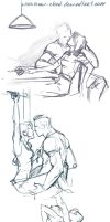 Mass Effect sketchdump by sparrow-chan