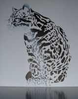 Ocelot on my wall by Smok15