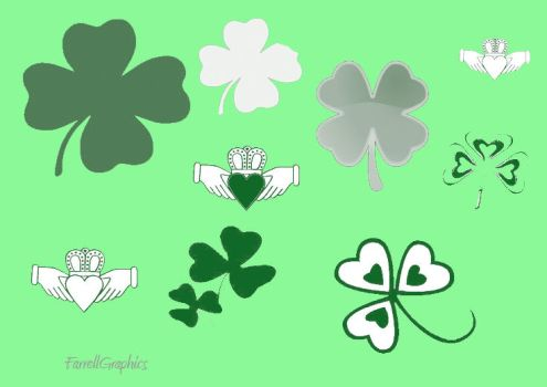 St Patricks Day brushes by witchrhi