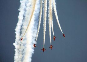 Red Arrows dive by Mark-Allison