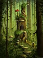A Forest Castle by jerry8448