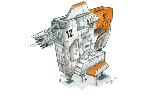 Star Wars Style Concept Salvage Vessel by SARGY001
