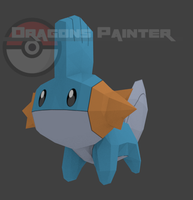 Pixelmon Mudkip model by DragonsPainter